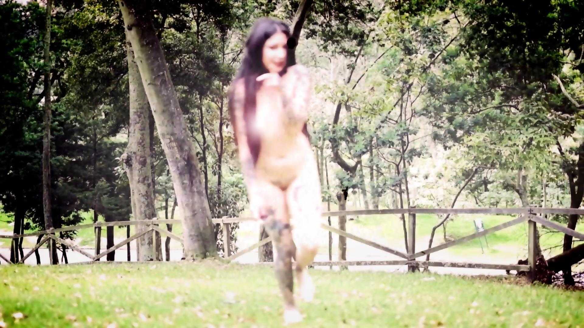 In public naked girl Nude in
