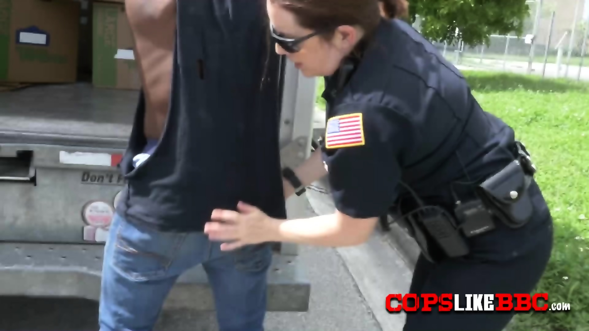Cell phone thief is placed on his knees to bang milf cops in ...