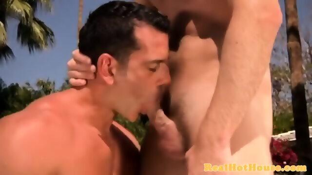 Sportive Jock Gets Throatfucked By Hunk