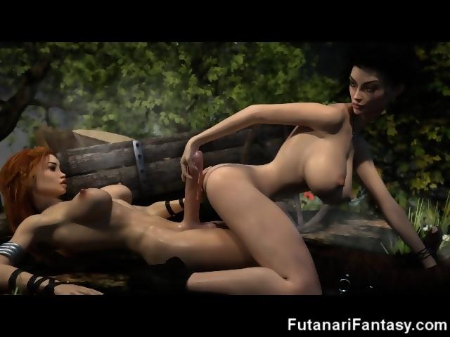 3D Futa Selfsuck and Selffacials! - scene 7