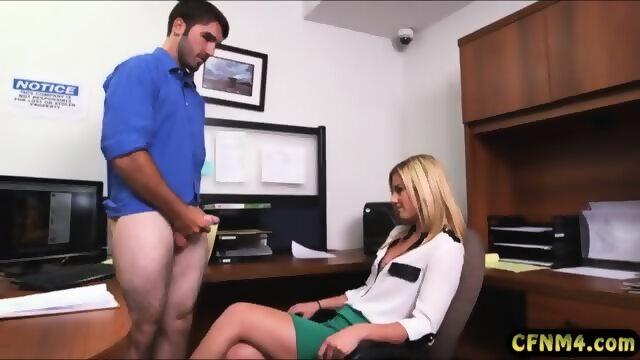 Sexy secretary blowjob