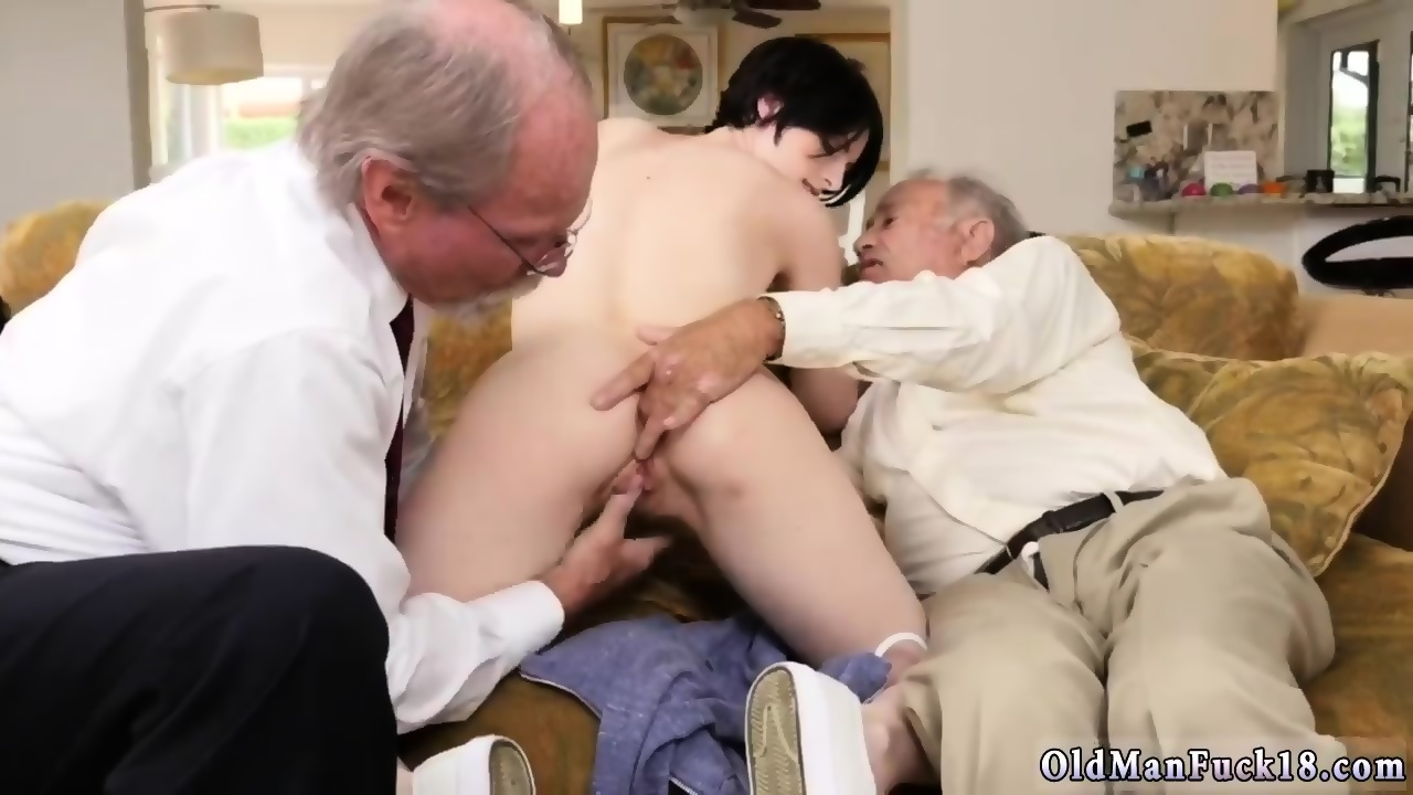 Mature with huge tits massages a guy
