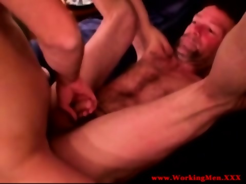 Straight mature bear bareback butt fuck