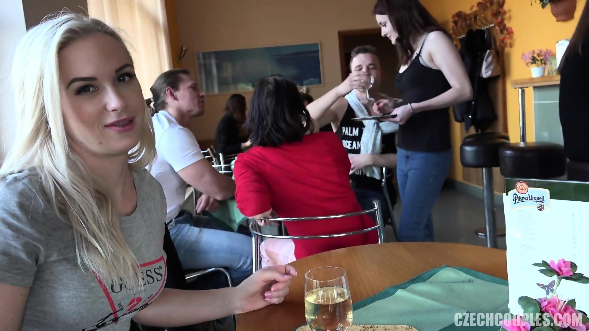 Restaurant sex video