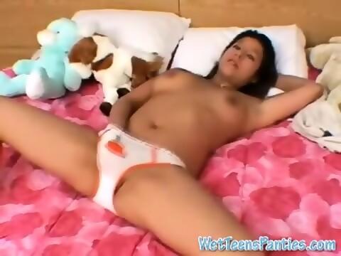 Teen on her period bleeding nude