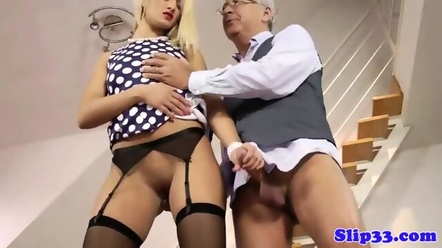 Classy escort babe cockriding in stockings 6
