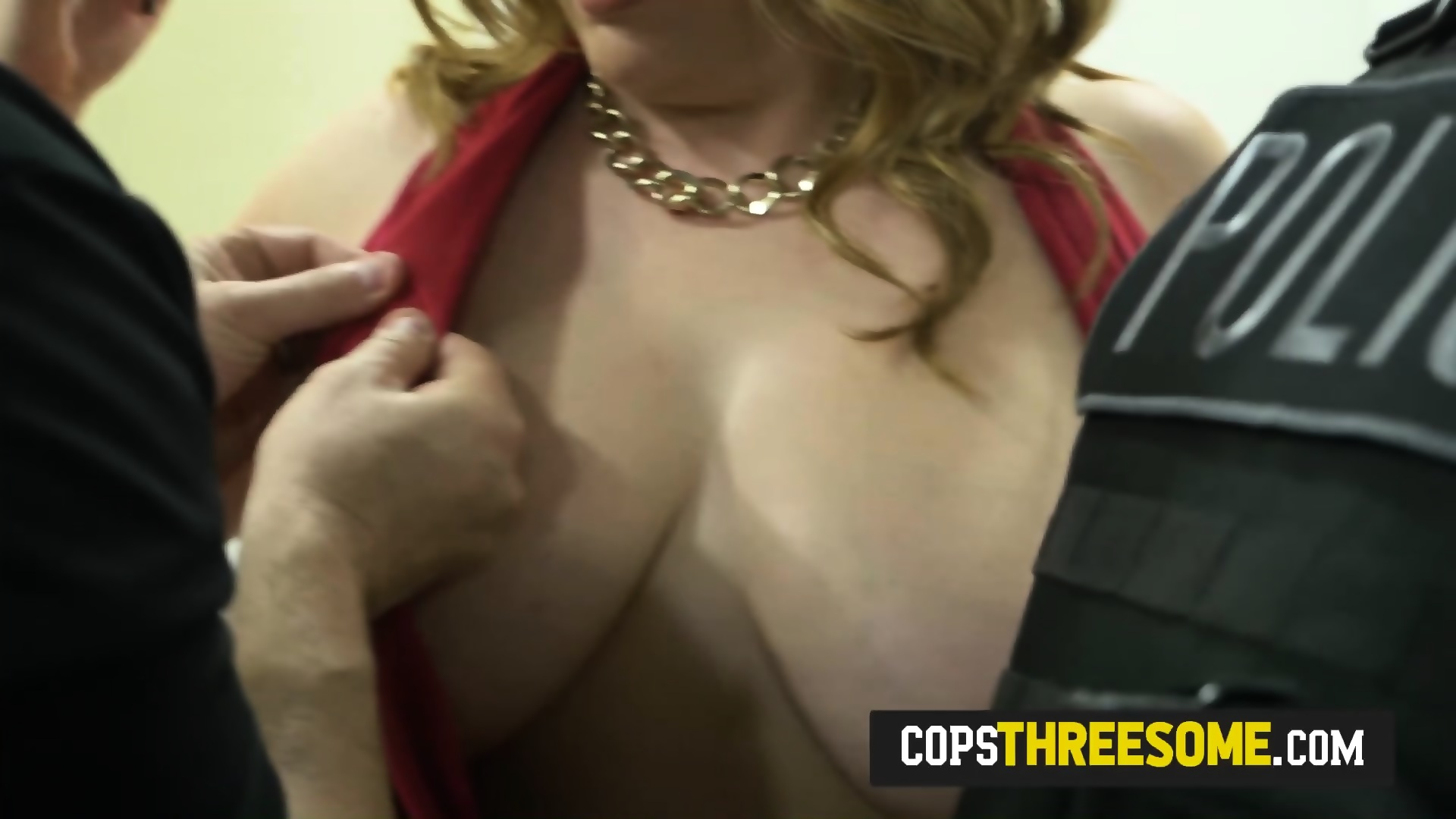 Milf cops trap skinny slut lover and take him to police station - scene 1