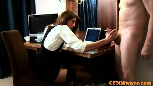 Office Lady Footjob