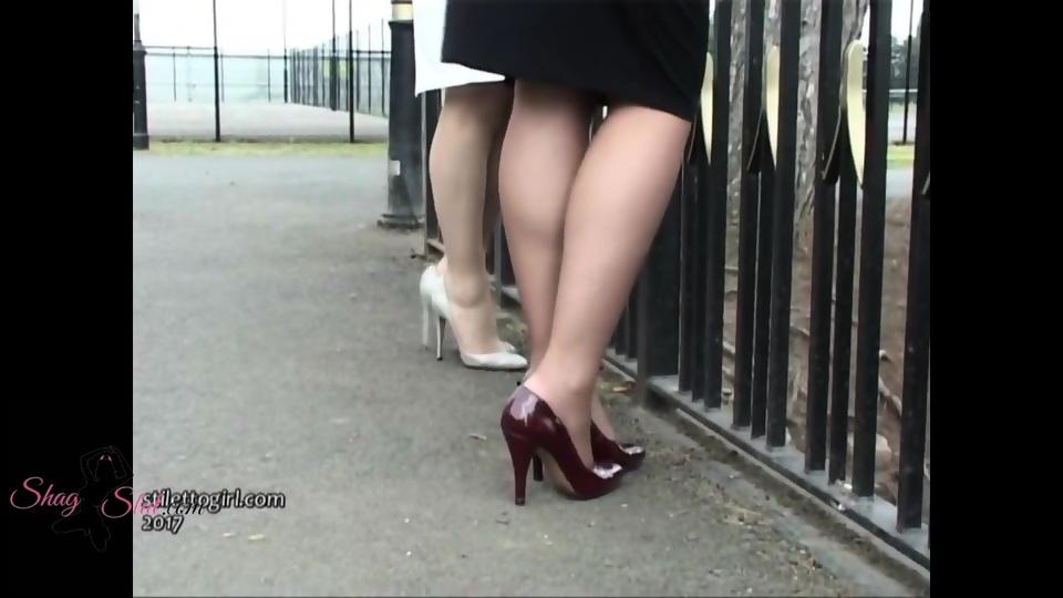 heels Footjob with high