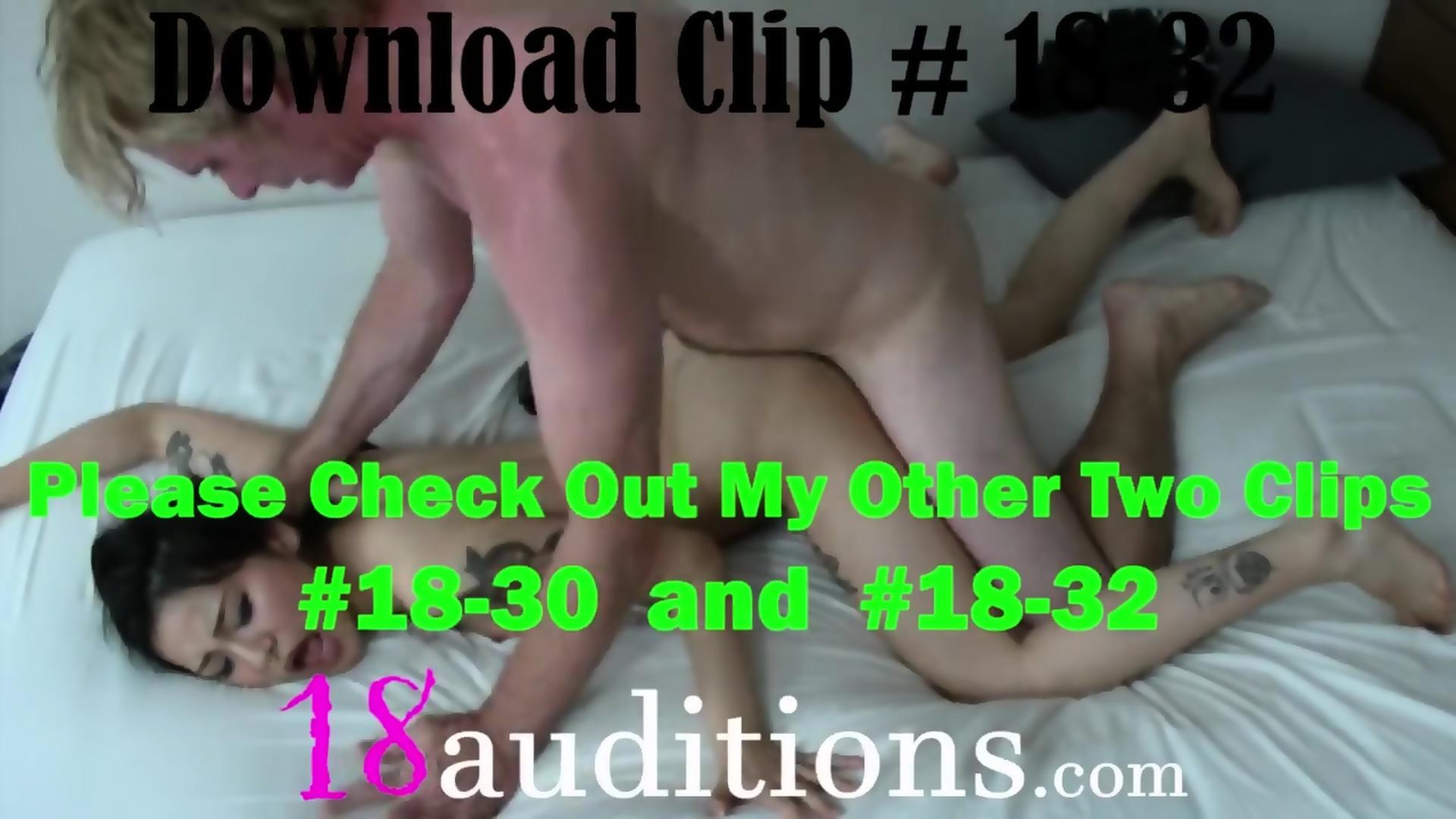 Hot teen striping video