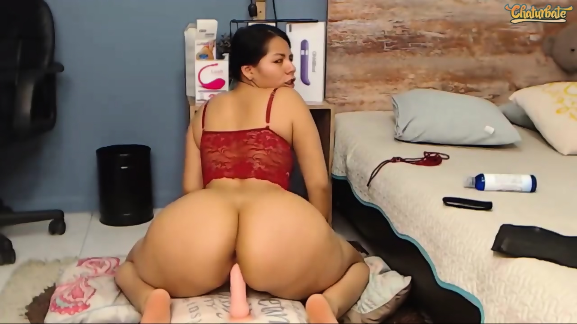 Big Booty Latina Dildo Webcam