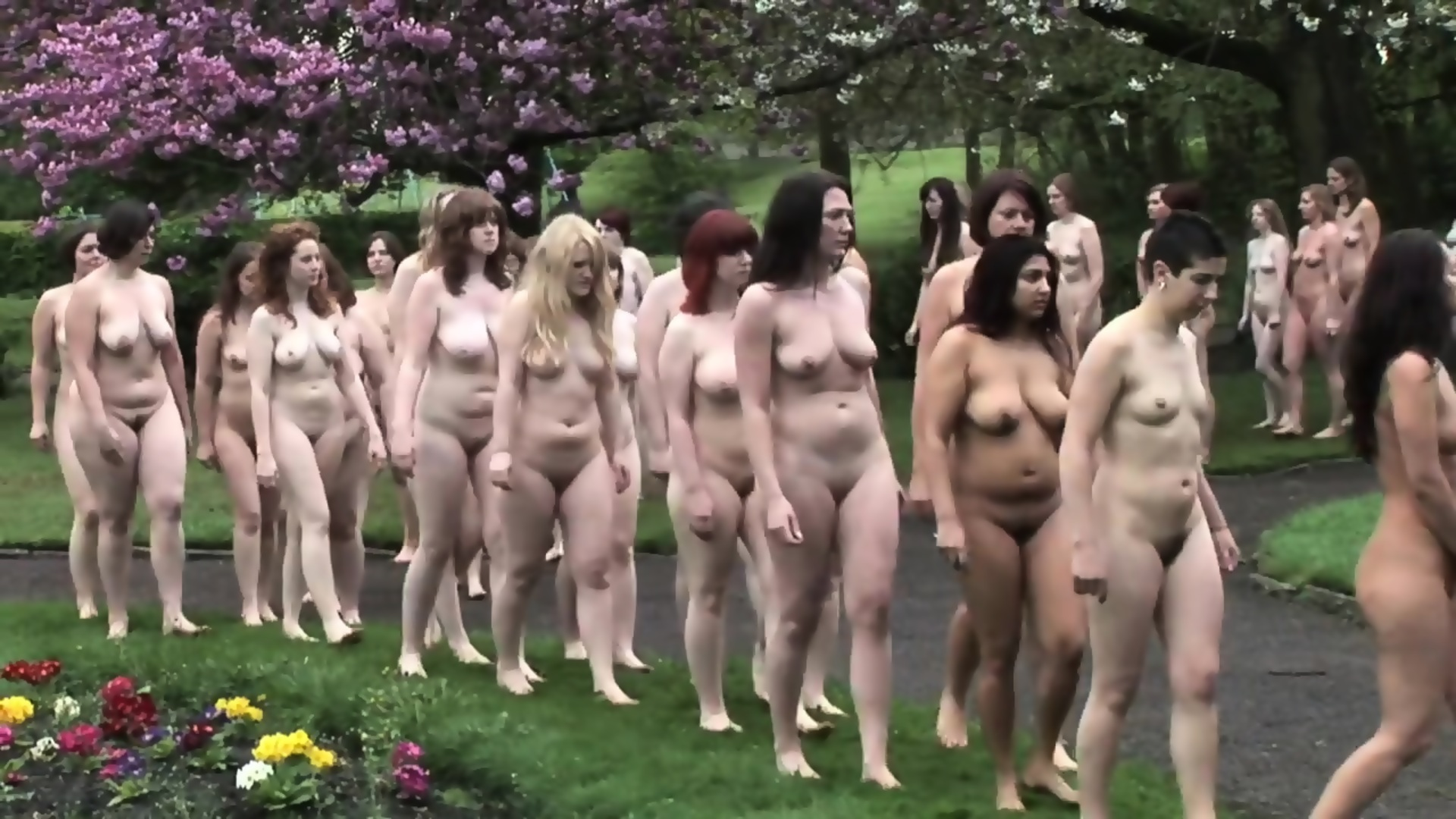 Groups of naked girls