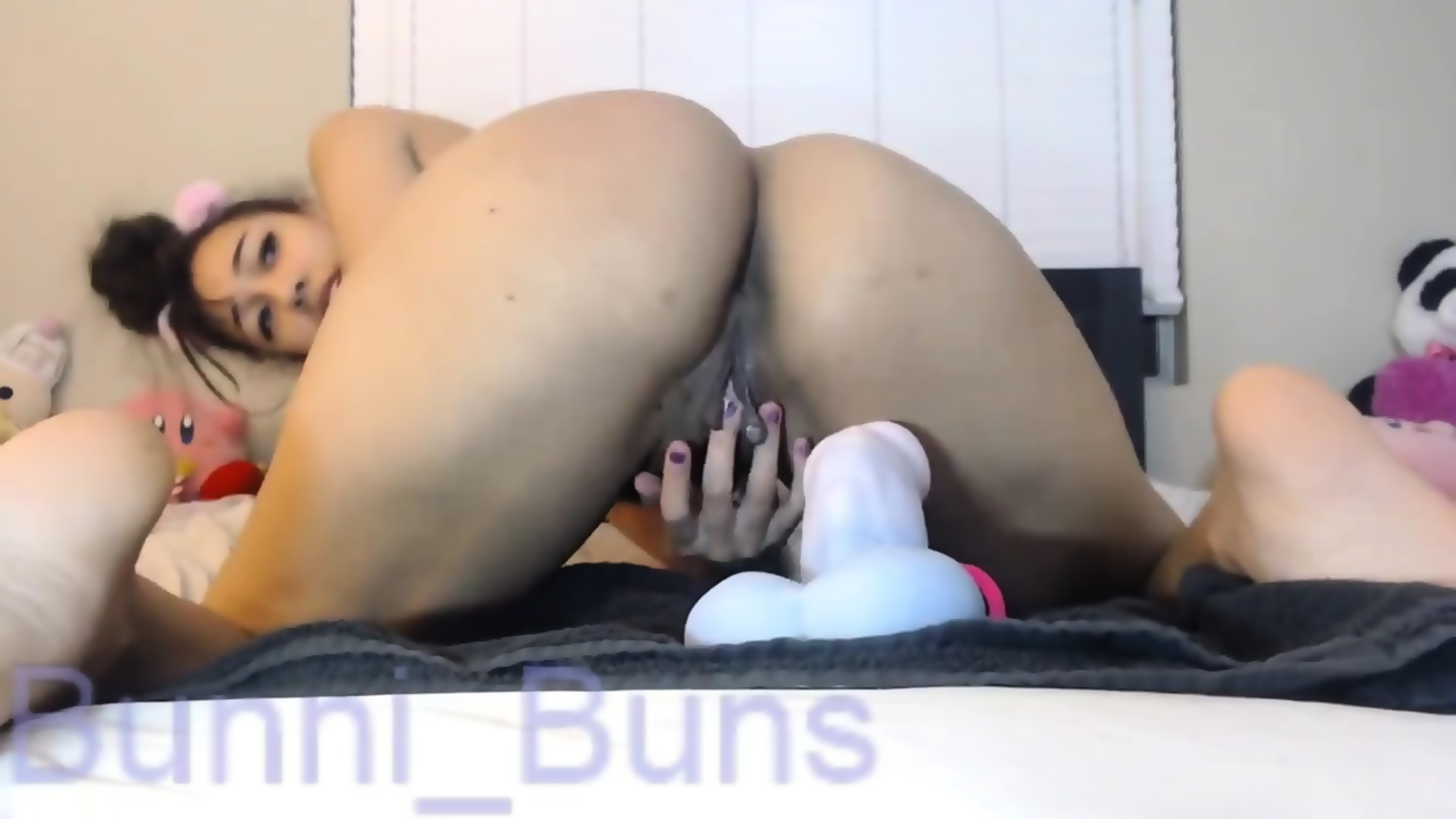 Ebony Riding Dildo Front