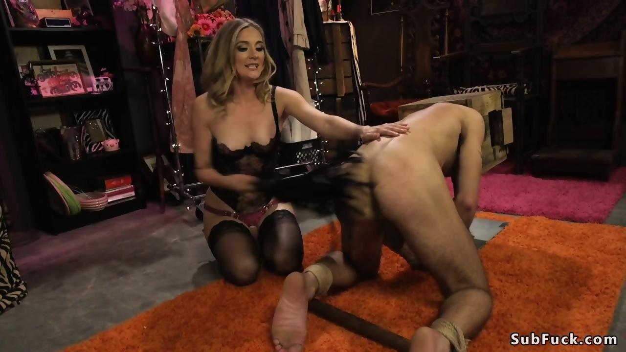 Mistress Makes Slave Cum