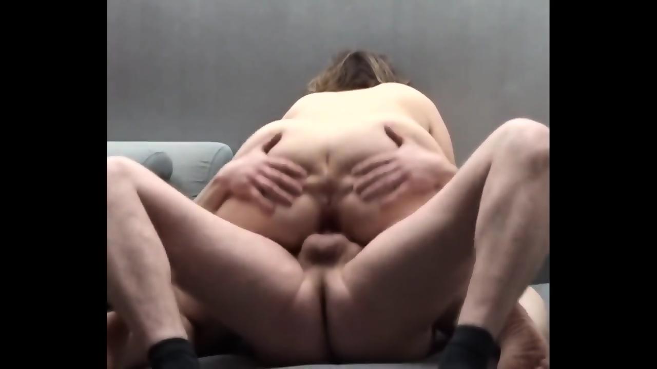 Tranny Riding Cock Cums