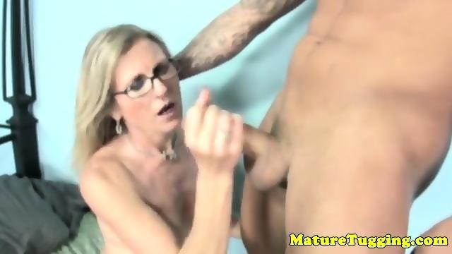 cougar gives handjob