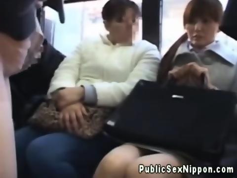 asian fingered on bus