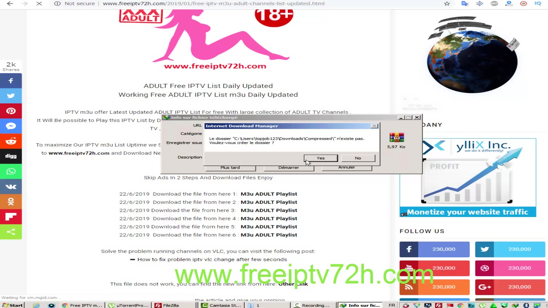 PORN-IPTV 18+ iptv channels +18 m3u