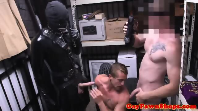 Pawnshop Guy In Bdsm Suit Bangs Straight