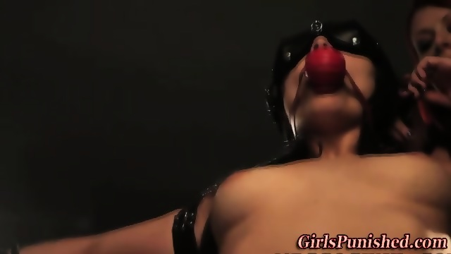 Whipped Dominated and lesbian clamped