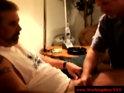 Men masturbating while watching porn
