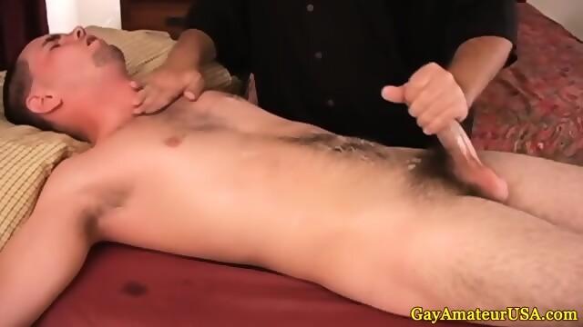 Massage jock cumming then takes shower