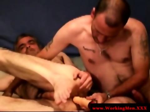 Bluecollar matures ass fucked and toyed