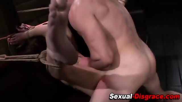 Bind spank fuck and suck threesome 10