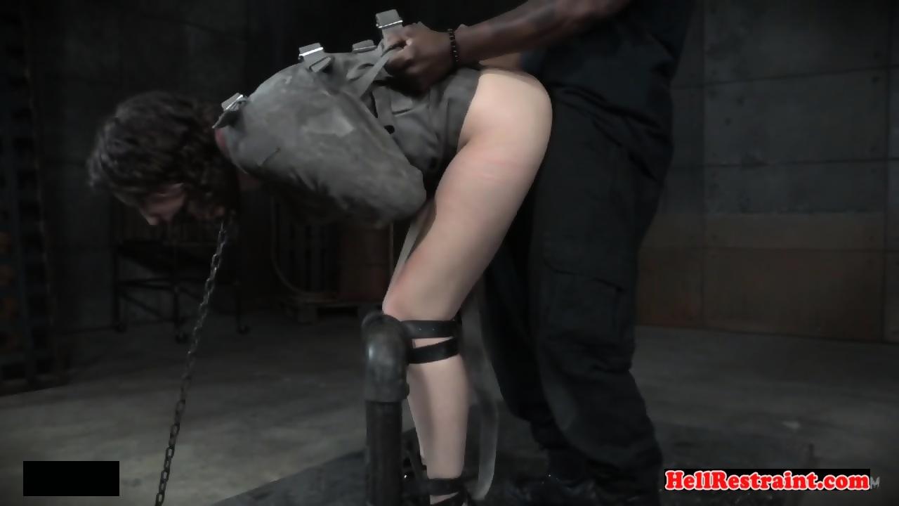 Ebony Bondage Fuck Machine