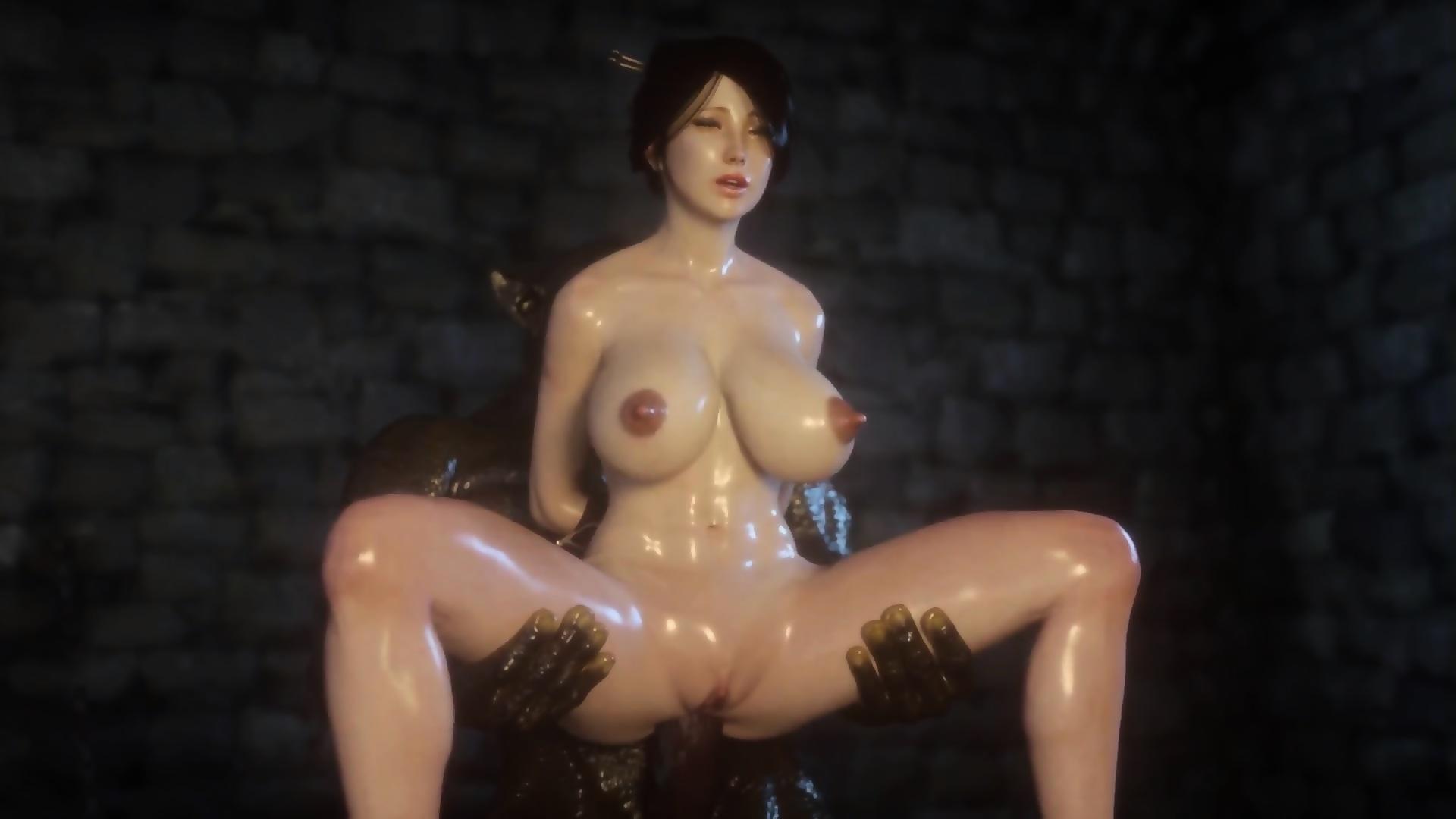 3d anime monster porn