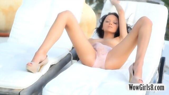 Melanie b masturbates twat in a sauna 2