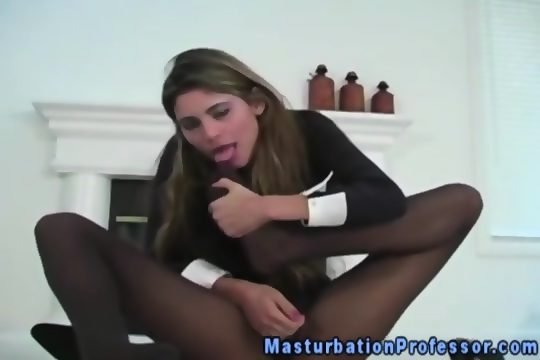 Masturbation in nylon stockings above told