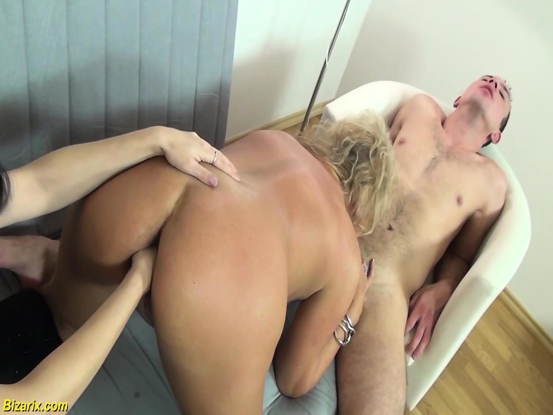 Hairy lesbian ass licking