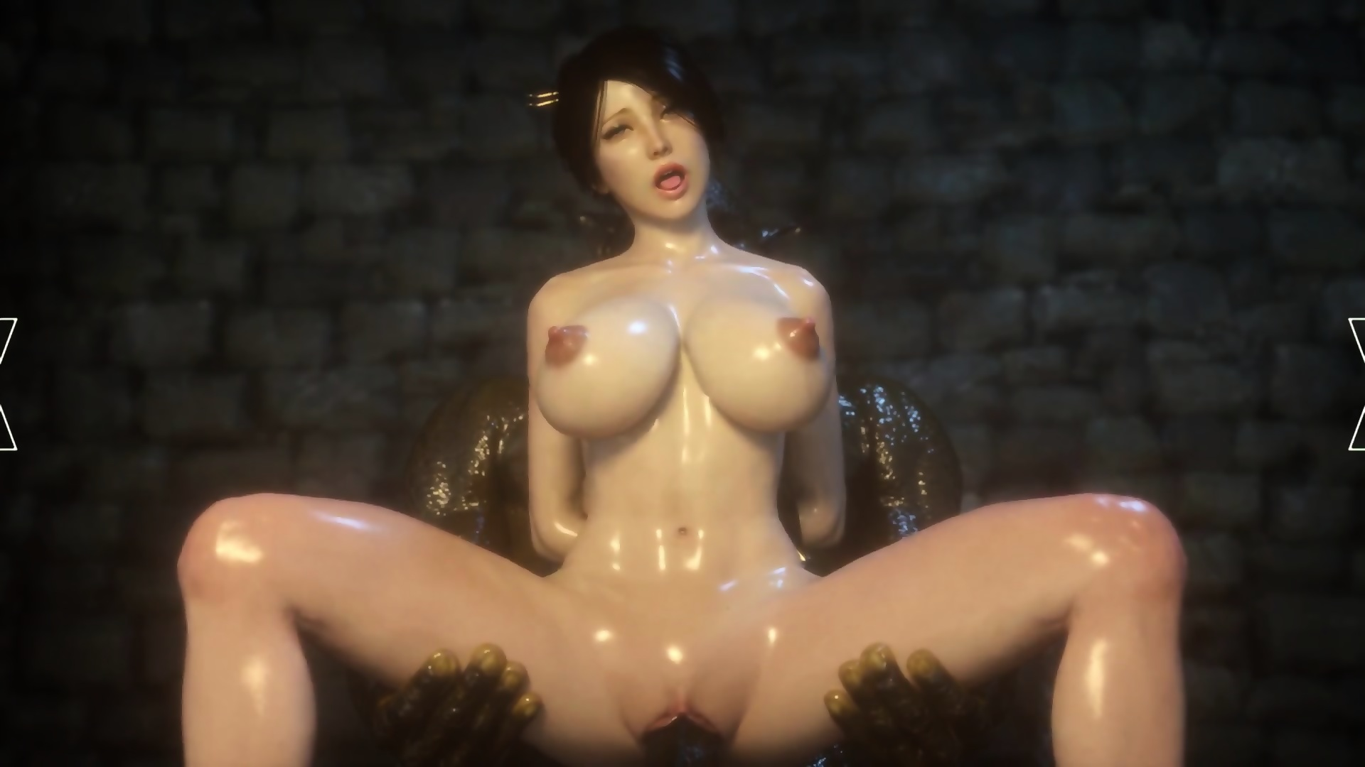 3D Sex Big Tits 3d animation moster sex with a red hair big tits babe