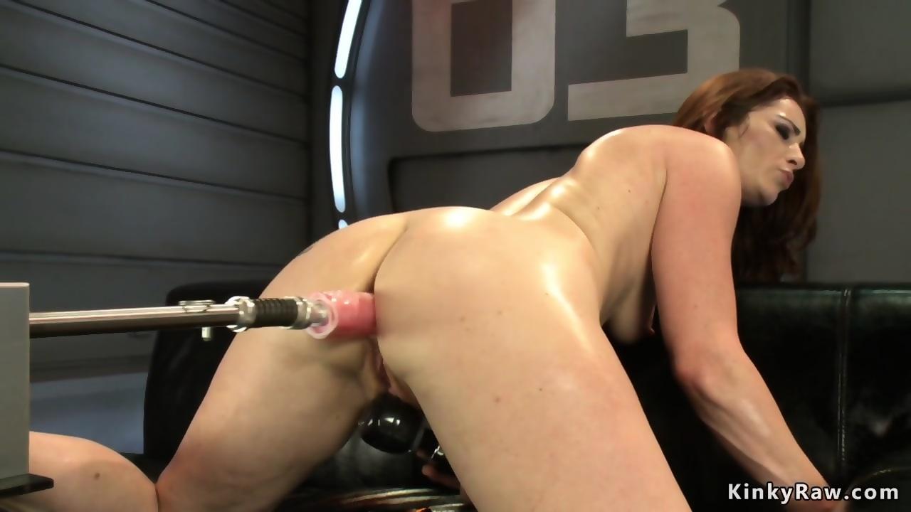 machine fuck Redhead cumshot anal