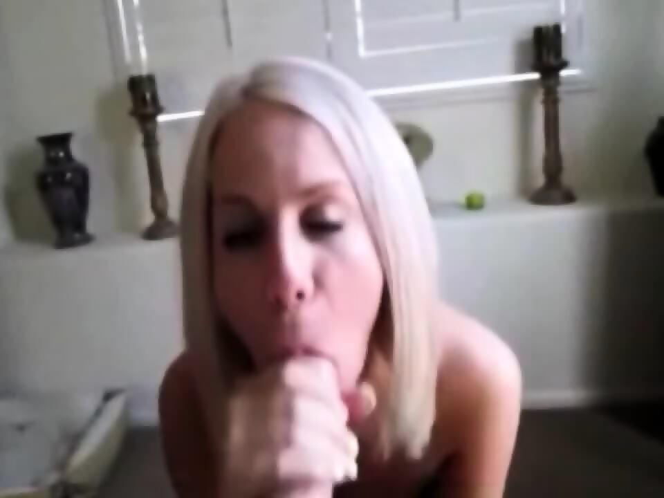 Blond sucks cock