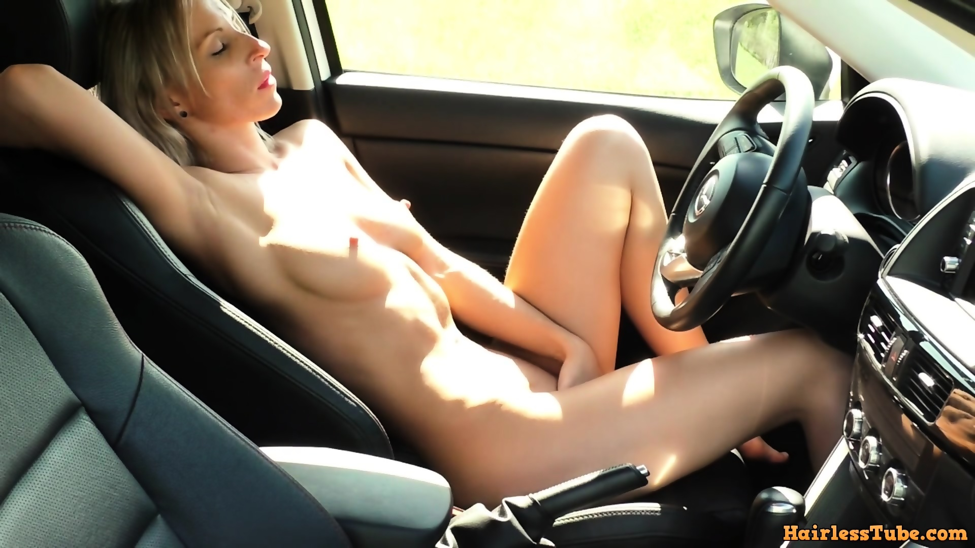 Ebony Masturbation Orgasm Car