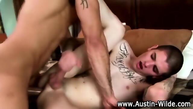 Pornstar Austin Wilde Blows His Load