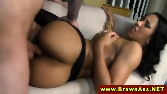 Brown Ass Beauty In Stockings Fucked In Her Tight Pussy Scene 4