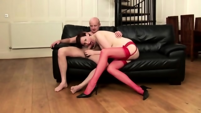 Classy british mature gets to suck dick