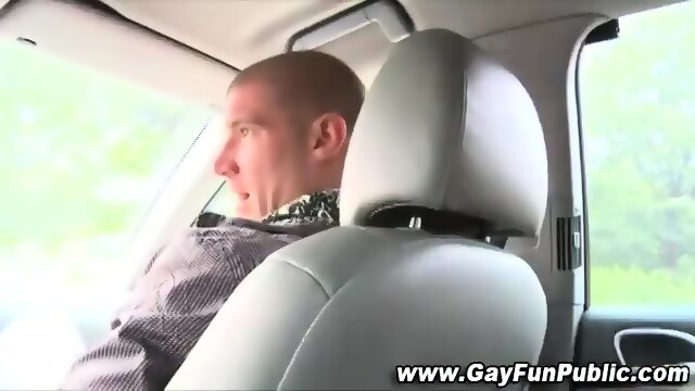Horny Impatient Gays Fuck On Car After Blowjob