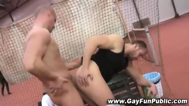 Masturbating Jocks Watching Them Fuck