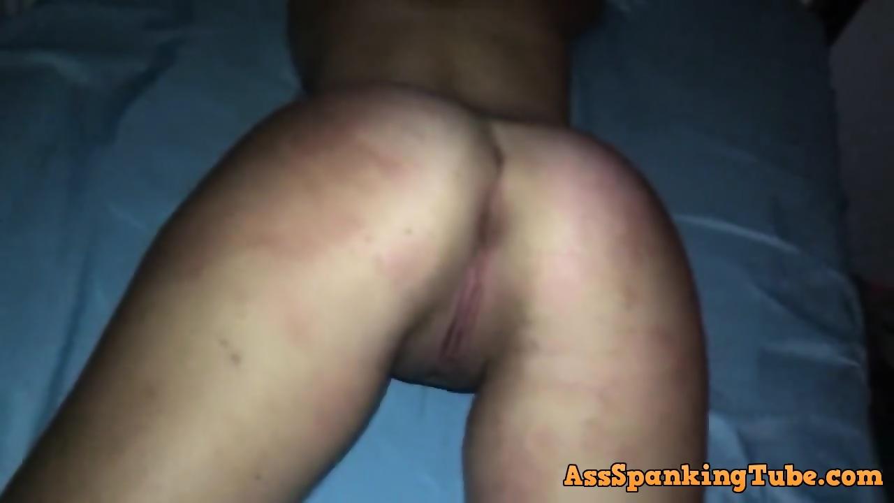 Spanking wet pussy wife