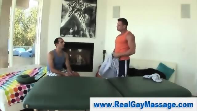 Straighty gay masseur seduction