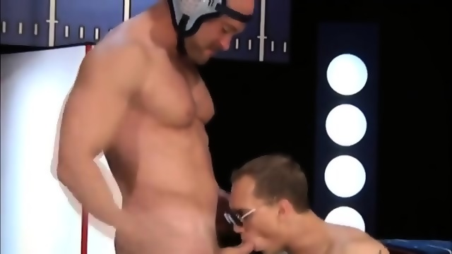 Gay jock gets blown for anal