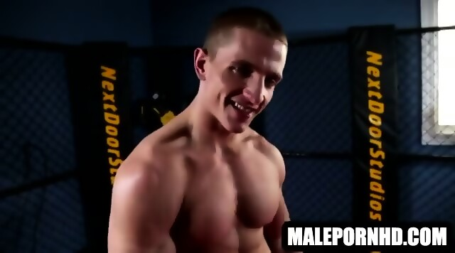 Hot muscle stud with a long cock