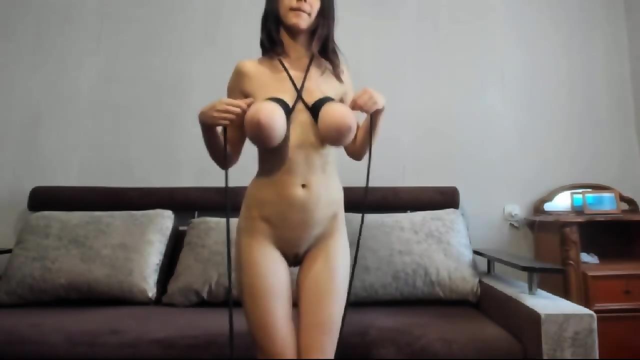 Bondage huge tits Very painful
