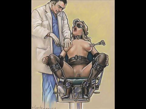 Two nude woman masterbating