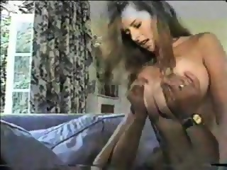 Big tit brunette handjob riding