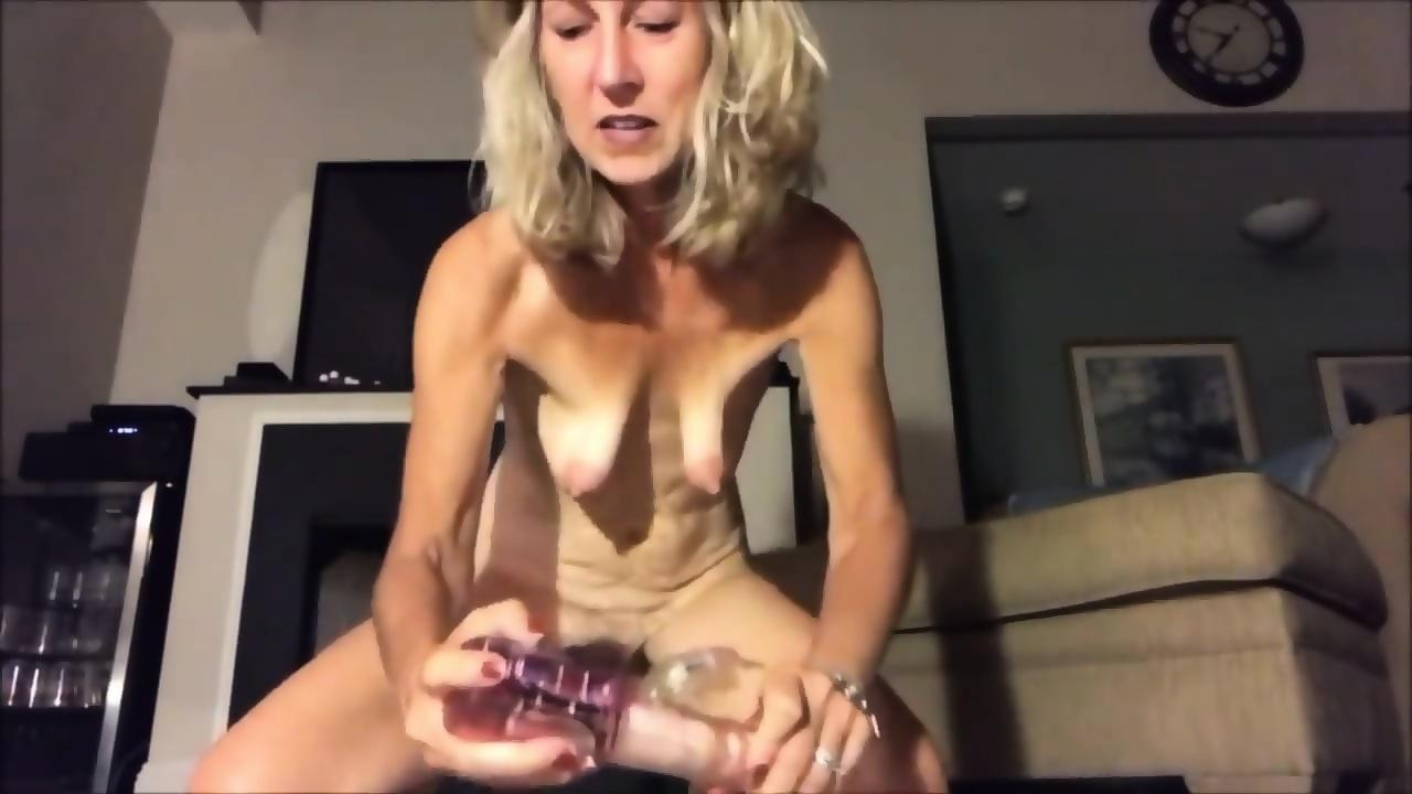Big Tits Milf Riding Dildo